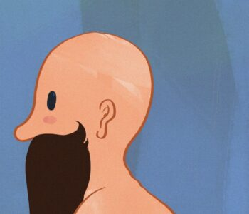 Calvo con barba en procreate