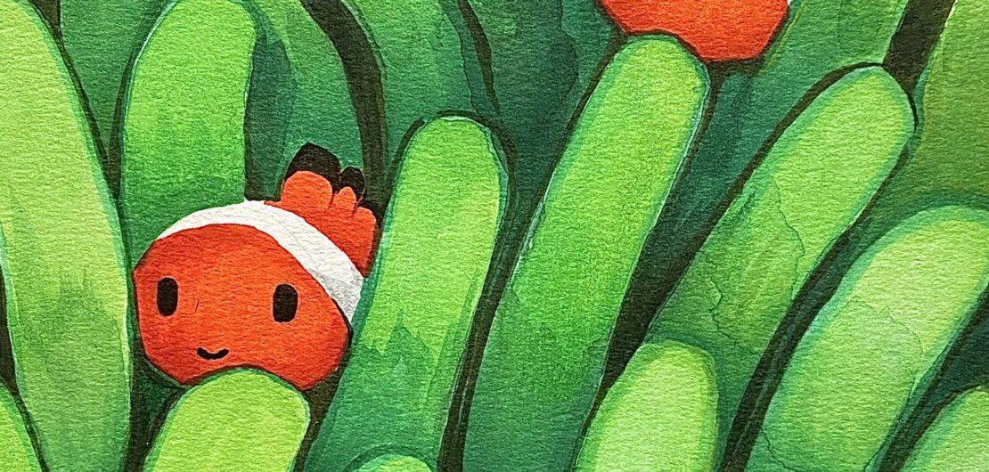 Dibujo de pez payaso