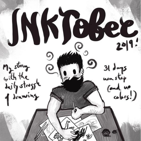 2.las 9 ilustraciones más relevantes de 2019, plata para la Ilustración con Procreate para iniciar el Inktober de 2019